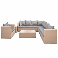 Eight Piece Wicker Lounge Set Range