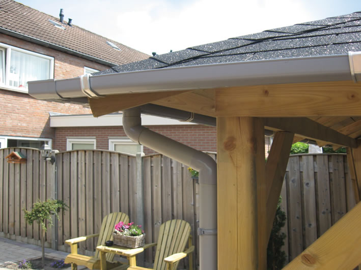 100mm Guttering For Log Cabins And Garden
