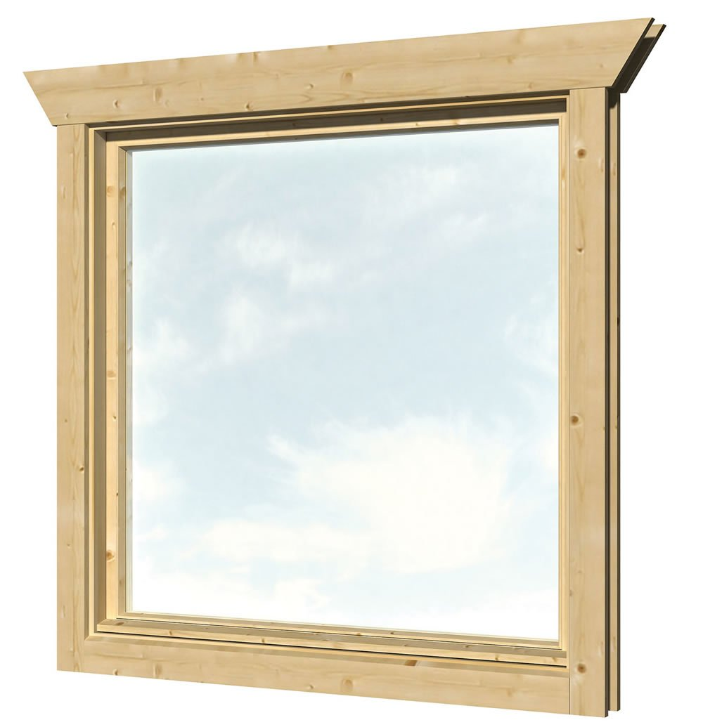 Single glazed windows for log cabins for Windows for log cabins