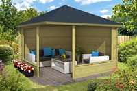 Log Cabin gazebo